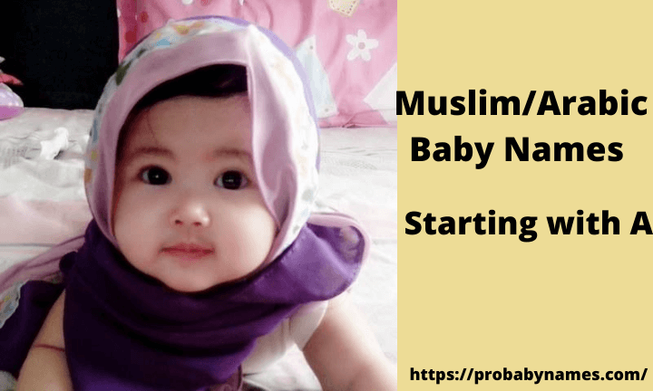 Muslim/Arabic Baby Names Starting With A